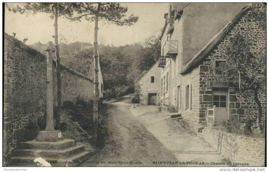 St Jean-le-Thomas Manche 50. Chemin Du Calvaire. - France