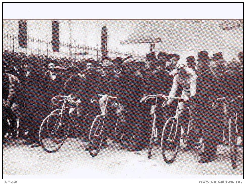 SUPERBE CPM..DE..CHOLET..REPRODUCTION..TRES ANIMEE..VELO CLUB CHOLETAIS 1888-1988..CYCLITES.. - Cholet