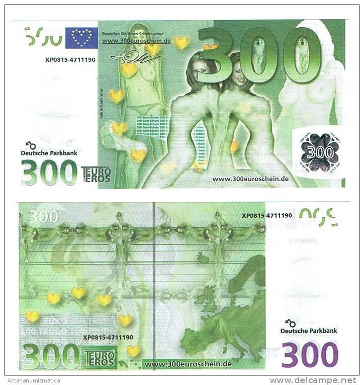 UNIÓN EUROPEA/EUROPEAN UNION  300,00€ SC/UNC Billete De Fantasia/Fantasy Banknote DL-2344 - EURO