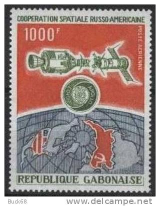 GABON Poste Aérienne 155 ** MNH Coopération Russo-américaine Soyouz Apollo [CV 10 Euros] - Gabon