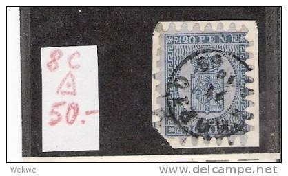 Spez037/ FINNLAND -  1866, Wappen ,20 Pen Gestempelt Auf Briefstück O - 1856-1917 Russian Government