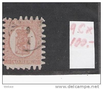 Spez038/  FINNLAND - 1866 Wappen, 40 Pen O, Gestempelt - Used Stamps
