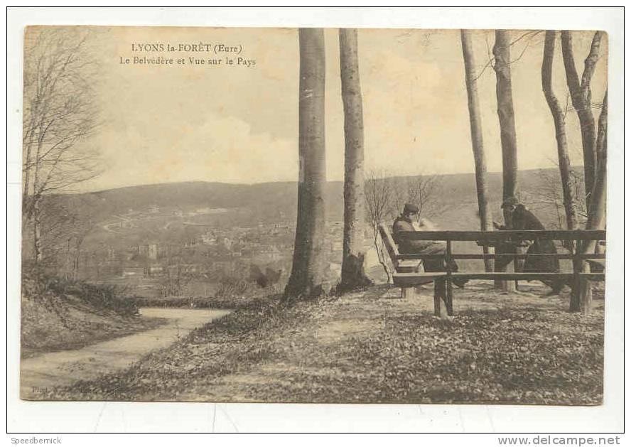 9630 LYONS LA FORET Le Belvédère Et Vue Sur Le Pays ; Photo Lave??? - Lyons-la-Forêt