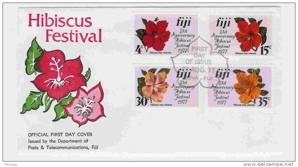 Fiji-1977 Hibiscus Festival  FDC - Fiji (1970-...)