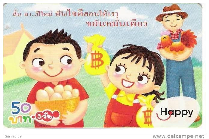 Thailand Prepaid Phonecard - Happy - Thaïlande