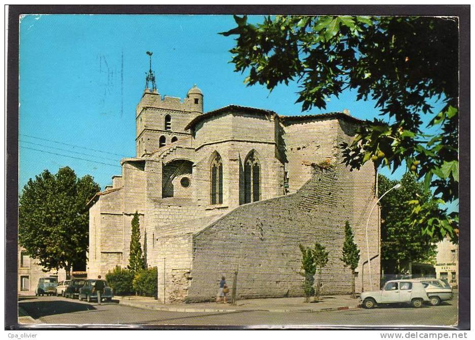 34 FRONTIGNAN Eglise, Cathédrale, XIVème, Renault Estafette, Ed SL 16334, CPM 10x15, 197? - Frontignan