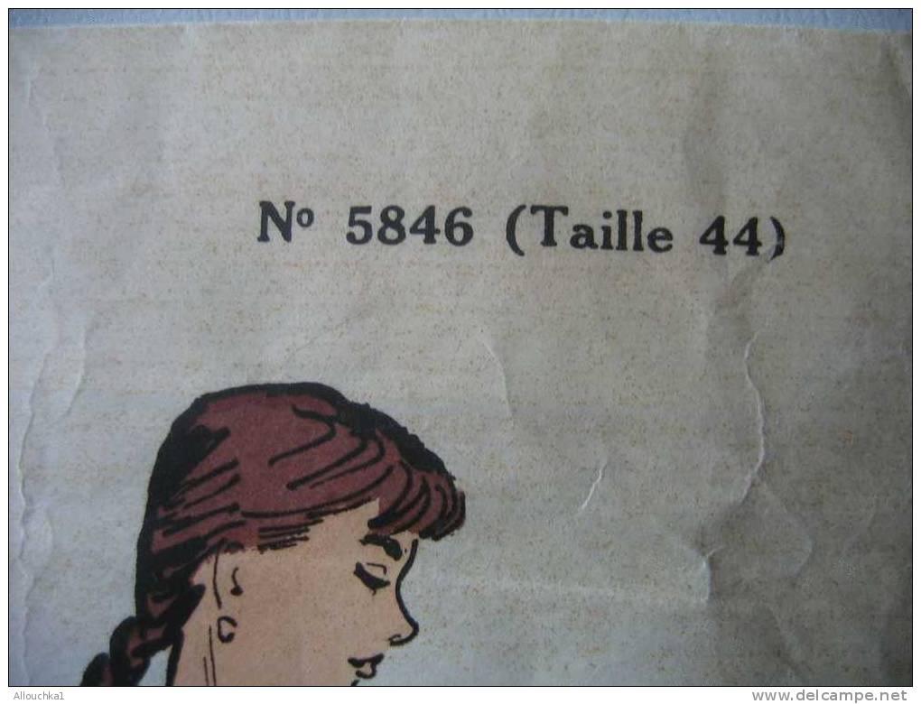 LOISIRS CREATIFS PATRONS  MODES & TRAVAUX 1957 CHEMISE DE NUIT TAILLE 44 - Non Classés