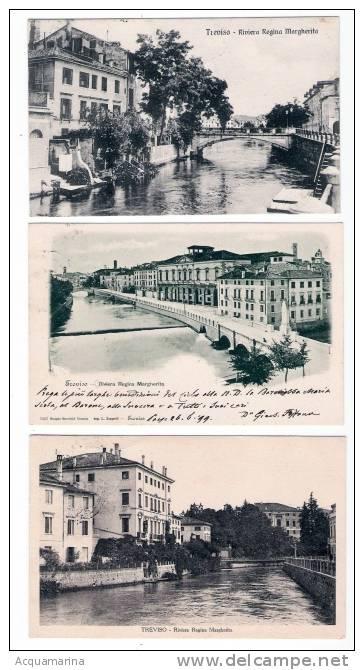 TREVISO - Riviera Regina Margherita - 3 Cartoline FP V - Treviso
