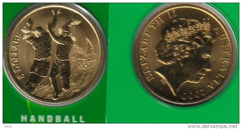 AUSTRALIA $5 OLYMPIC GAMES  SYDNEY HANDBALL SPORT 1 YEAR TYPE  2000 UNC NOT RELEASED  MINT READ DESCRIPTION CAREFULLY!! - Australia
