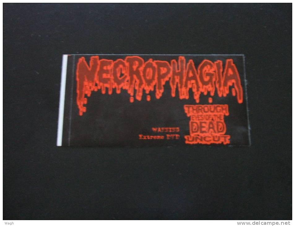 NECROPHAGIA  Promo STICKER - Manifesti & Poster