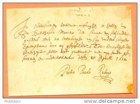 KG31 Peter Paul Rubens A Letter - Schilderijen