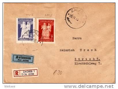 Yu041 /  JUGOSLAWIEN - Zagreb 1945 Volksrepublik, Wert Kyrillisch/lateinisch - 1945-1992 Socialist Federal Republic Of Yugoslavia