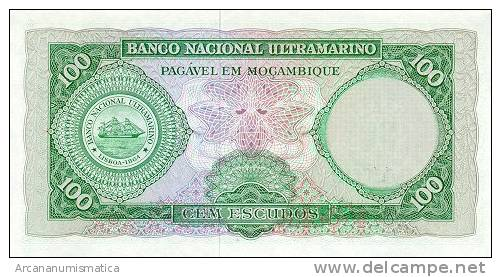 MOZAMBIQUE  100 ESCUDOS(1.976)  27-3-1.961  KM#117  PLANCHA/UNC/SC    DL-2575 - Mozambique
