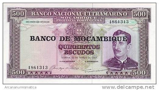 MOZAMBIQUE  500 ESCUDOS(1.976)  22-3-1.967  KM#118  PLANCHA/UNC/SC    DL-2580 - Mozambique