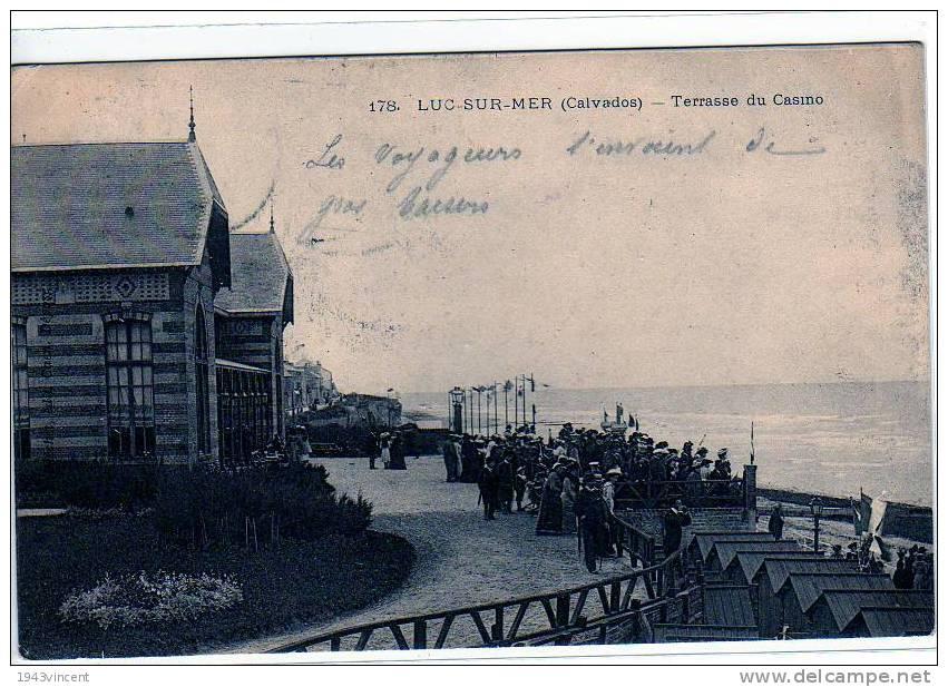 C 2493 - LUC SUR MER - Terrasse Du Casino - Belle CPA De 1903 Trés Animée - - - Luc Sur Mer