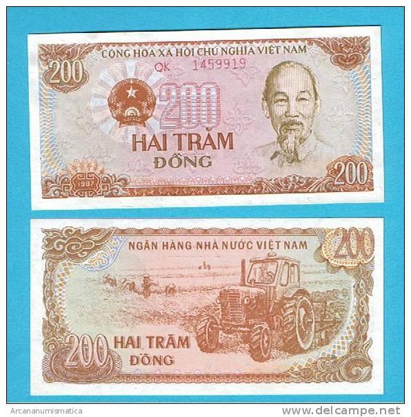VIETNAM   200  DONG    1987  KM#100  PLANCHA/UNC/SC   DL-2611 - Vietnam