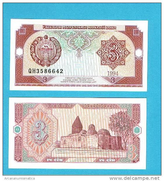 UZBEQUISTAN   UZBEKISTAN  3 SUM  1994  KM#74   PLANCHA/UNC/SC   DL-2651 - Uzbekistán