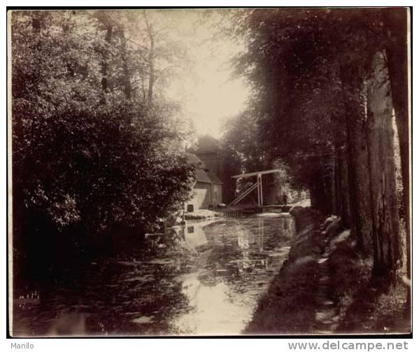 Pays-Bas - DEN HAAG -LA HAYE -FOTO. 1900 - Cours D´eau Et Pont Levis- Tirage Sur Papier  BFK-RIVES N°2- 21.5x25.5cm  N°6 - Places