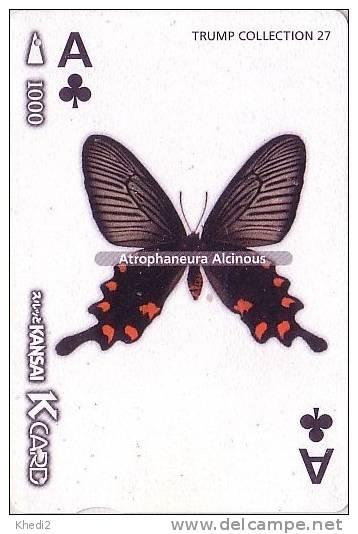 Carte à Jouer PAPILLON As De Trèfle - BUTTERFLY Playing Card - SCHMETTERLING - MARIPOSA - 37 - Papillons