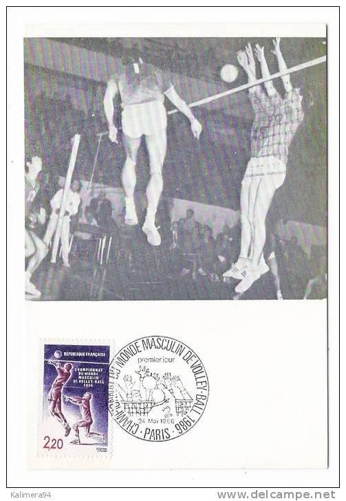 MATCH DE VOLLEY-BALL / CHAMPIONNAT DU MONDE MASCULIN DE VOLLEY-BALL 1986 / PARIS 24 MAI 1986 / Edit. J.F. Courbevoie - Volleyball
