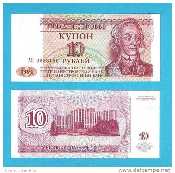 TRANSNISTRIA/TRANSNIESTRIA   10 RUBLOS  1994  KM#18  PLANCHA/UNC/SC   DL-2710 - Billetes