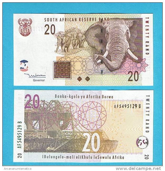 SUDAFRICA  20 RAND  ND(1993,1999)  KM#124  PLANCHA/UNC/UNC/SC   DL-2745 - Suráfrica