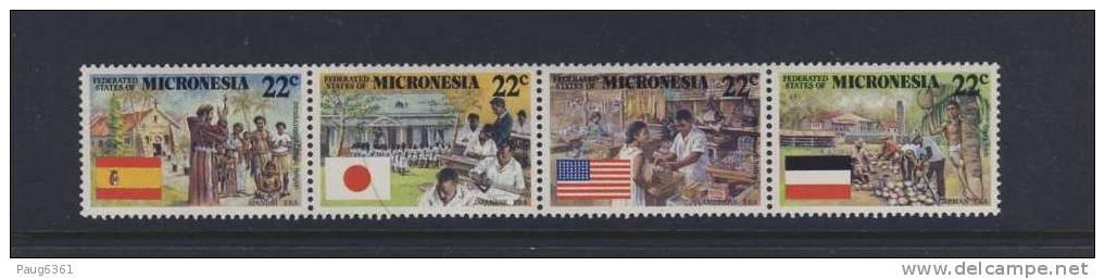 MICRONESIE 1988 COLONISATION Sc N°59/62 NEUF MNH**  LLL443D - Micronésie