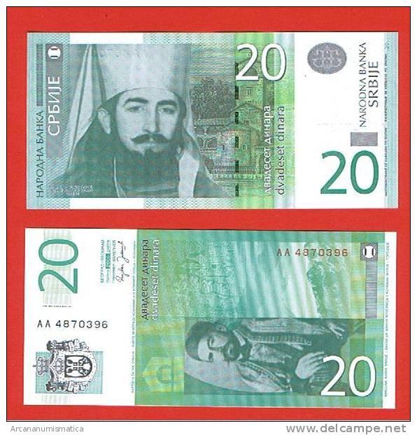 SERBIA  20 DINARES  2006  PLANCHA/UNC/SC    DL-2786 - Billetes