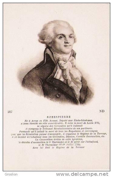 ROBESPIERRE (1759 1794) ND 207 - Histoire