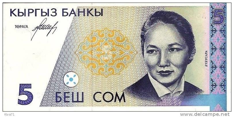 "5 Som ""KIRGHIZISTAN""      UNC   Bc 98 - Kyrgyzstan"