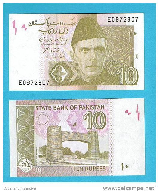 PAKISTAN  10 RUPIAS  2006 PLANCHA/UNC/SC   DL-3181 - Pakistán