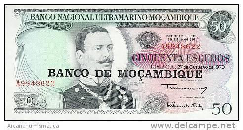 MOZAMBIQUE  50 ESCUDOS (1976)  27-10-1970  KM#116  PLANCHA/UNC   DL-3250 - Mozambique