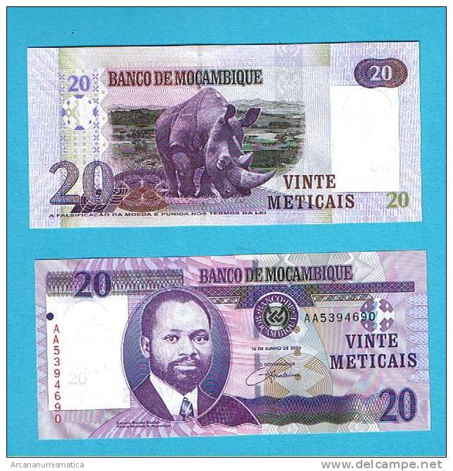 MOZAMBIQUE  20 METICAIS 16-6-2006 PLANCHA/UNC   DL-3265 - Mozambique