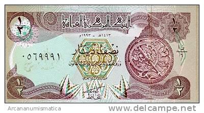 IRAQ/IRAK  1/2 DINAR 1993  KM#78  PLANCHA/UNC  DL-3379 - Iraq