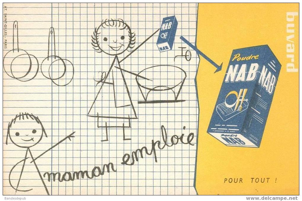 Buvard Poudre NAB  Dessin Enfant écolier  Lessive - Löschblätter, Heftumschläge