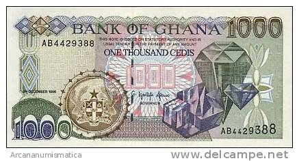 GHANA 1.000  CEDIS 4-8-2003   KM#32  PLANCHA/UNC    DL-3596 - Ghana