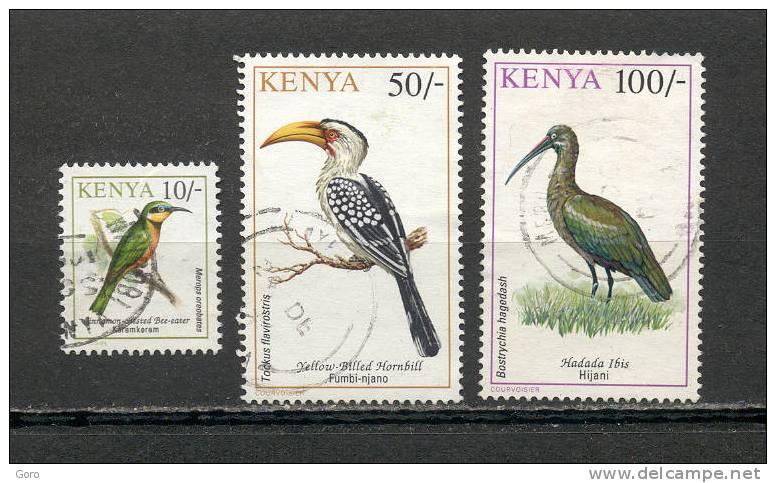 Kenia  1993.-  Y&T Nº  566 Y 569 Y 571 - Kenia (1963-...)