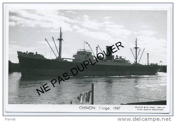 """CP5611 - Cargo """" CHINON """" (1947) - Compagnie De Navigation D´Orbigny - Handel"""