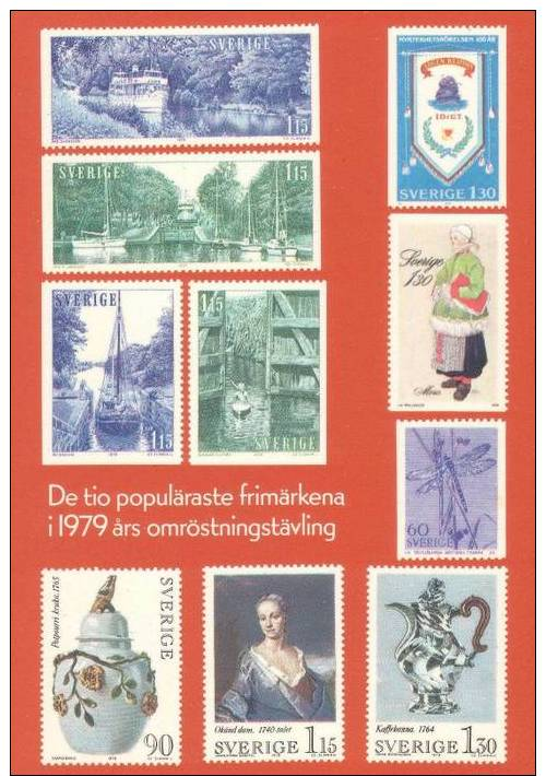 The 10 Most Popular SWEDISH STAMPS 1979 - Stamps (pictures)