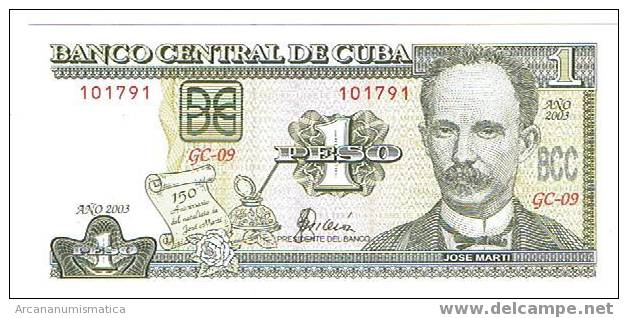 CUBA,1 PESO  2003  SC   DL-3743 - Cuba