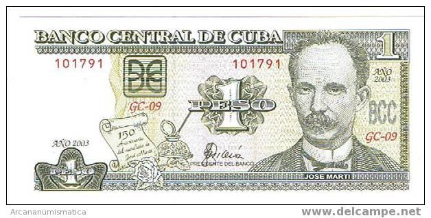 CUBA,1 PESO  2003  SC   DL-3753 - Cuba