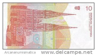CROACIA  10  DINARES  8-10-1991   KM#18  PLANCHA/UNC     DL-4042 - Croatie