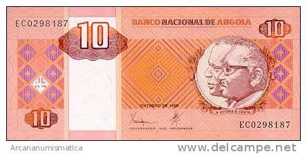 ANGOLA  10 KWANZAS  1999   KM#15  PLANCHA/UNC   DL-4269 - Angola