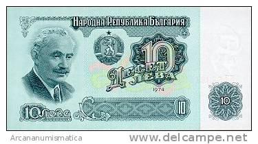 BULGARIA  10  LEVA  1974  KM#96   PLANCHA/UNC   DL-4597 - Bulgaria