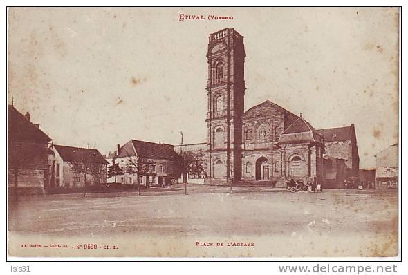 Dép 88 - N755 - Etival - Place De L´abbaye - état - Etival Clairefontaine