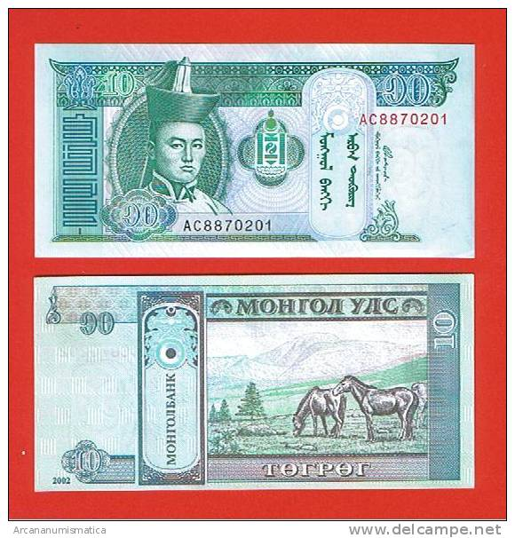 MONGOLIA    10  TUGRIK  2.002     PICK: KM#62    PLANCHA/UNC    (LQ)  DL-4691 - Mongolia