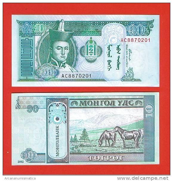 MONGOLIA    10  TUGRIK  2.002     PICK: KM#62    PLANCHA/UNC    (LQ)  DL-4711 - Mongolia