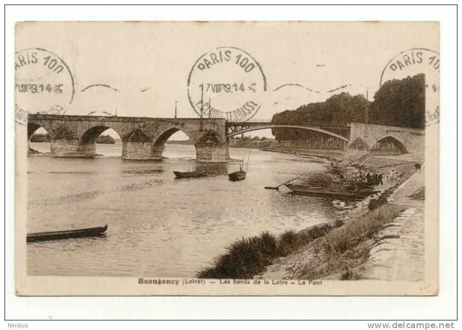 Loiret Beaugency Les Bords De La Loire Le Pont - Beaugency
