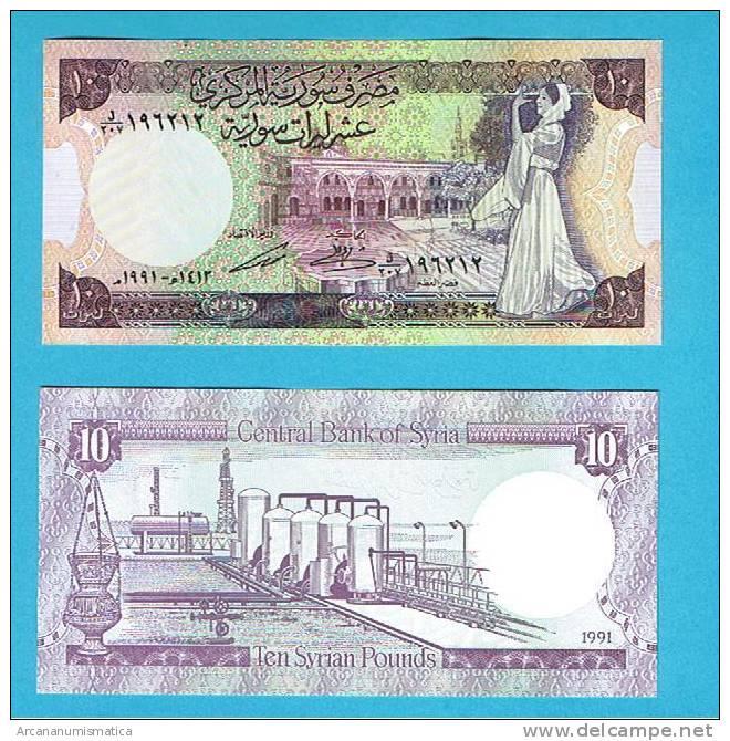 SYRIA/SIRIA    10 POUNDS   1.991    KM#101e    PLANCHA/UNC  (BT)    DL-4873 - Siria