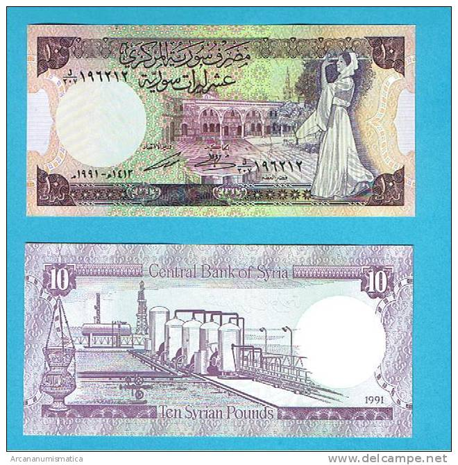 SYRIA/SIRIA    10 POUNDS   1.991    KM#101e    PLANCHA/UNC  (BT)    DL-4889 - Siria